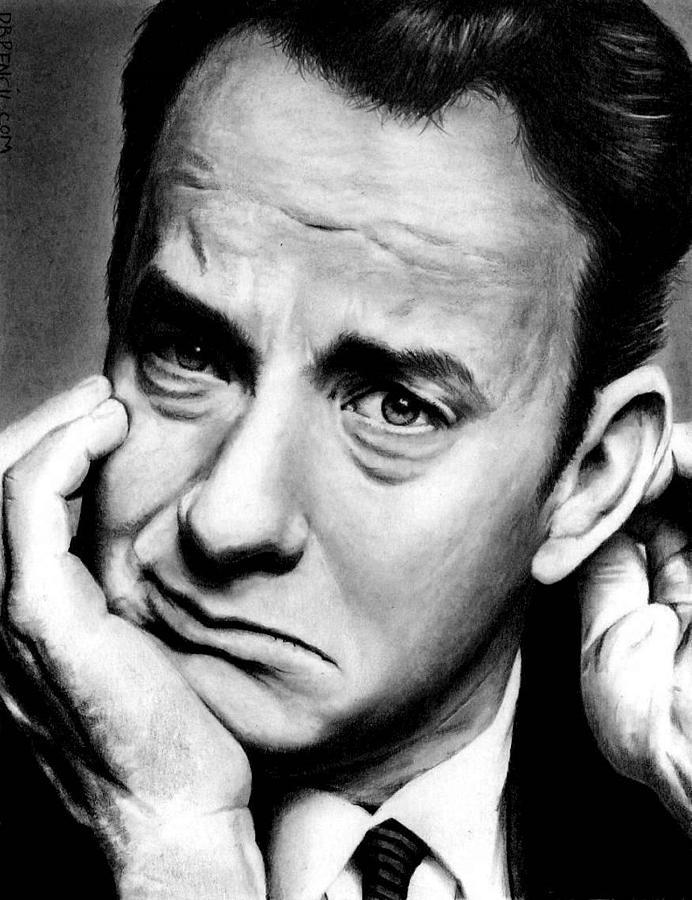 Tom Hanks Drawing - Tom Hanks by Rick Fortson