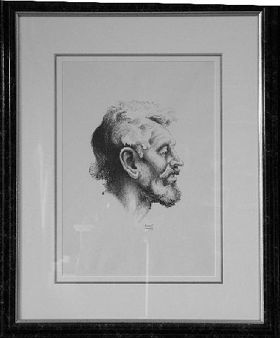 Thomas Hart Benton Drawing - Tom Keefer F.51 by Thomas Hart Benton