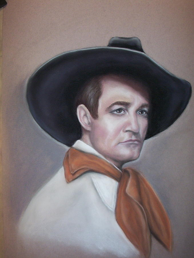 Portrait Pastel - Tom Mix by Deborah Steinmetz
