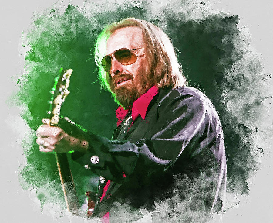 Tom Petty Painting - Tom Petty - 20 by Andrea Mazzocchetti