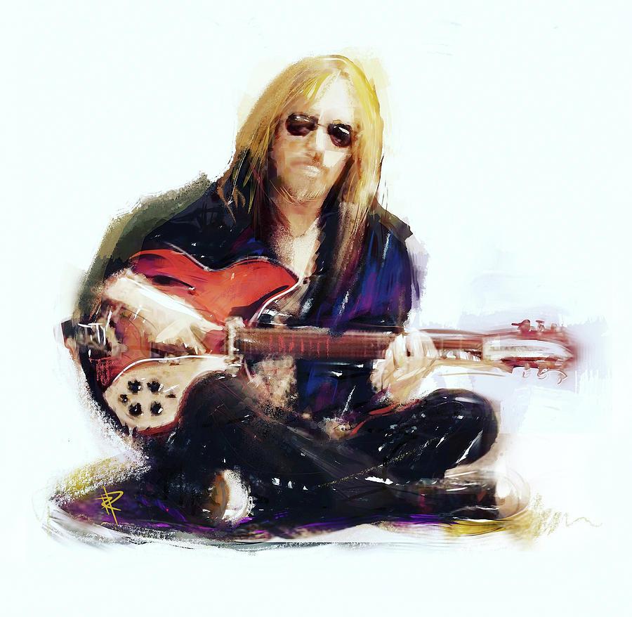 Tom Petty Mixed Media