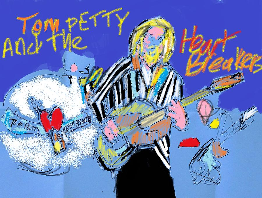 Tom Petty Digital Art - Tom Petty by Samuel Zylstra
