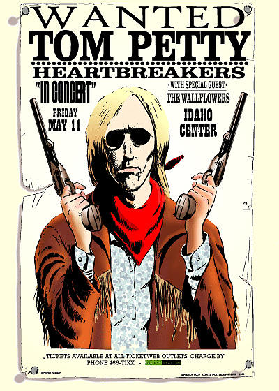Tom Petty Painting - Tom Petty Tour Poster by Jefferson Wood