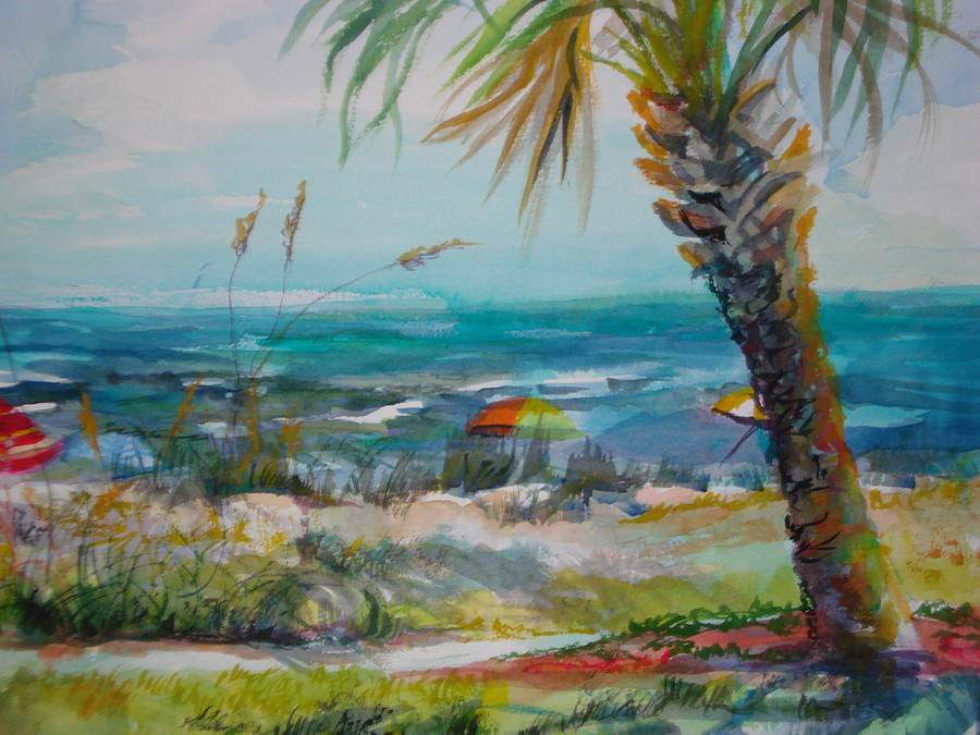 Tom Renick Park Ormond Beach Florida Painting by Marilyn Masters