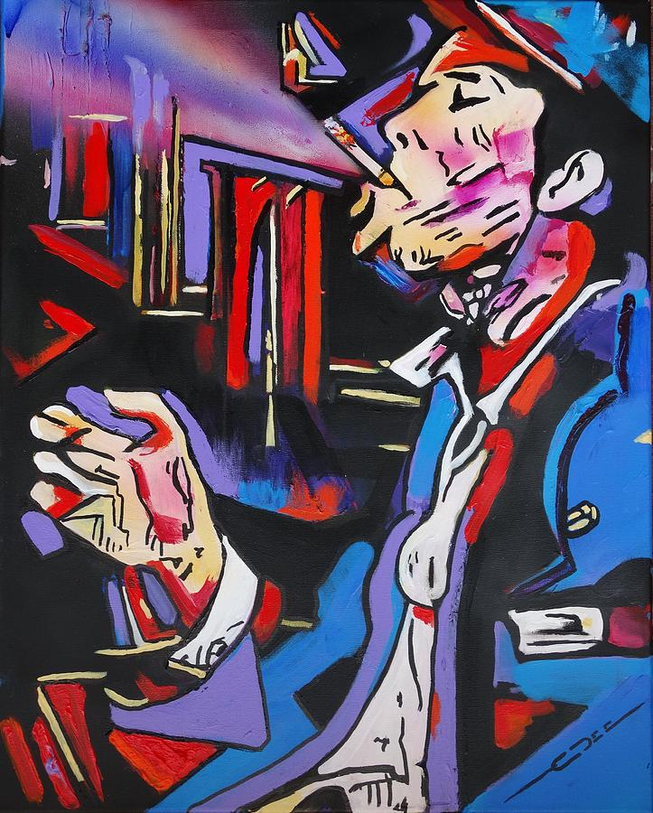Tom Waits Painting - Tom Trauberts Blues by Eric Dee