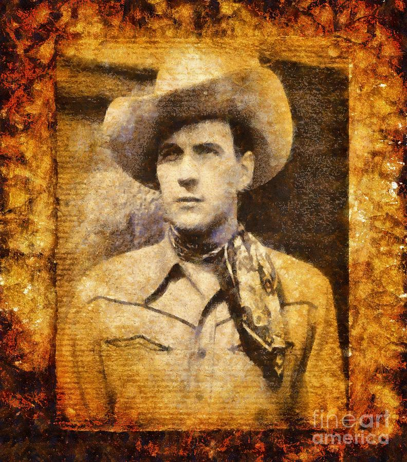Cinema Painting - Tom Tyler, Vintage Western Actor by Esoterica Art Agency