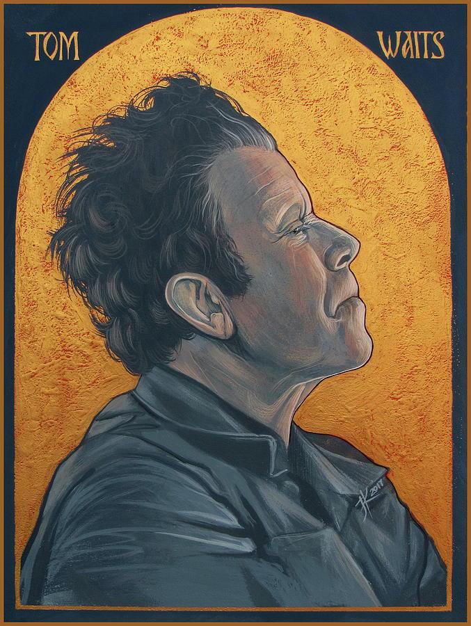 Tom Waits Painting - Tom Waits 2 by Jovana Kolic