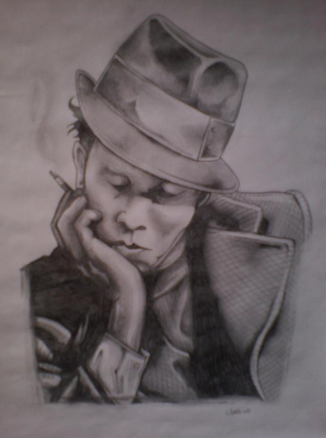 Face Painting - Tom Waits by Chris Mc Crossan