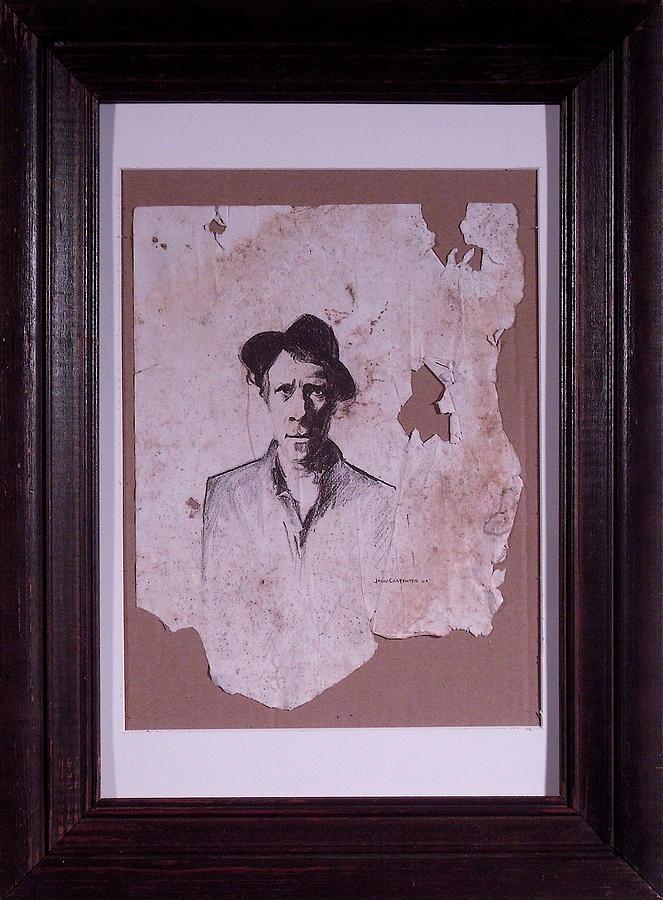 Tom Waits Drawing - Tom Waits by Jared  Carpenter