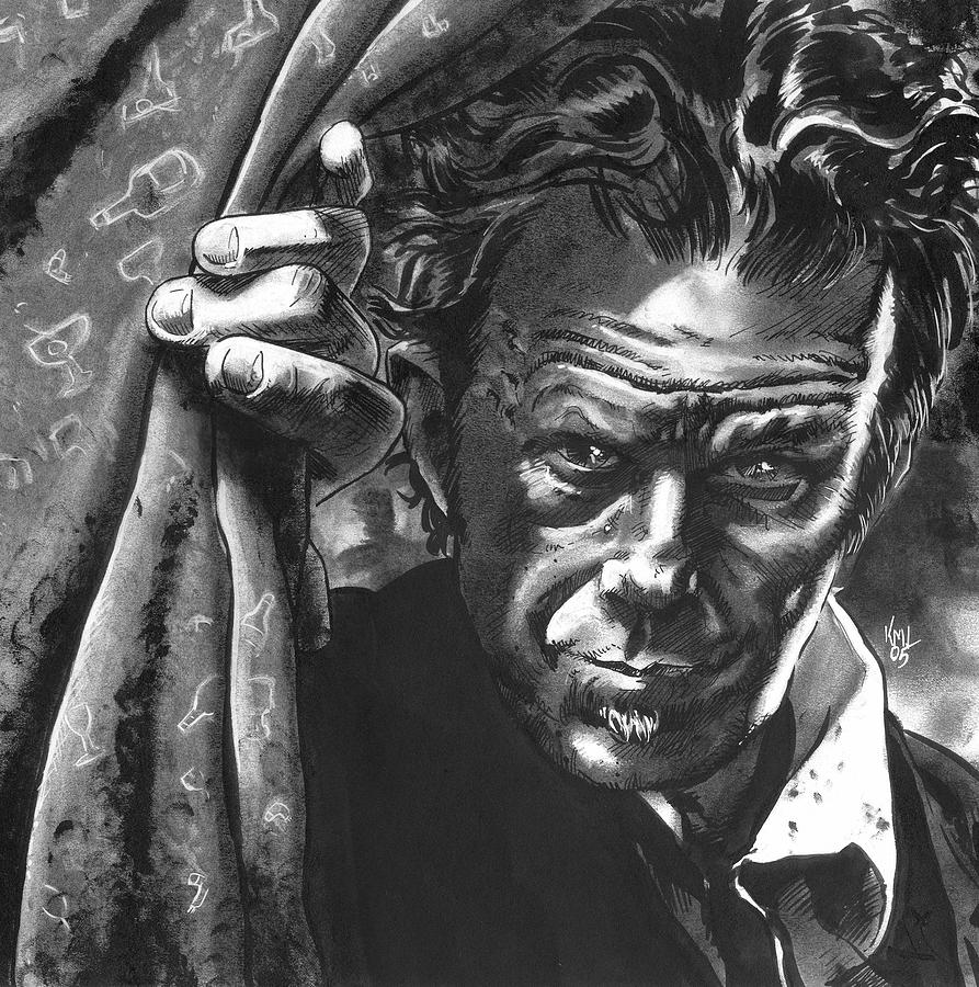 Musicians Mixed Media - Tom Waits by Ken Meyer