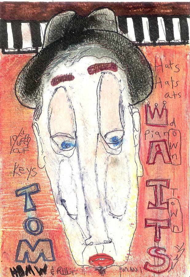 Contemporary Drawing - Tom Waits by Robert Wolverton Jr