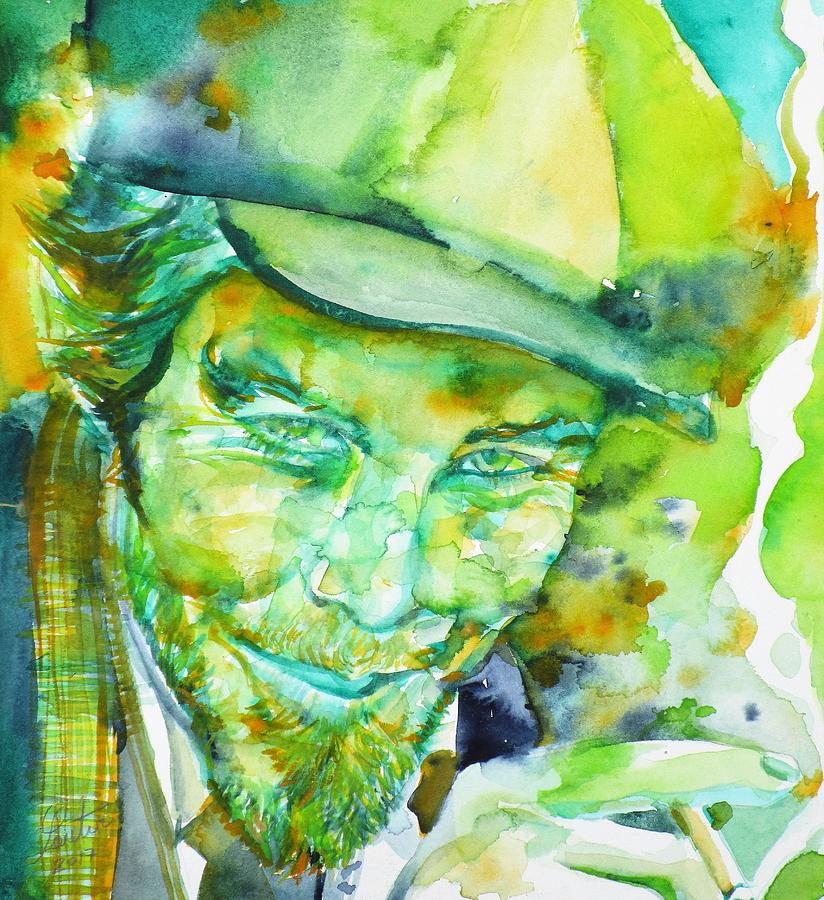 Tom Waits Painting - Tom Waits - Watercolor Portrait.5 by Fabrizio Cassetta