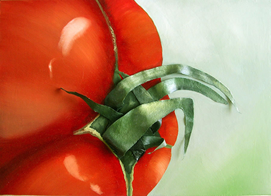 Tomato Painting - Tomato - Original Sold by Cathy Savels