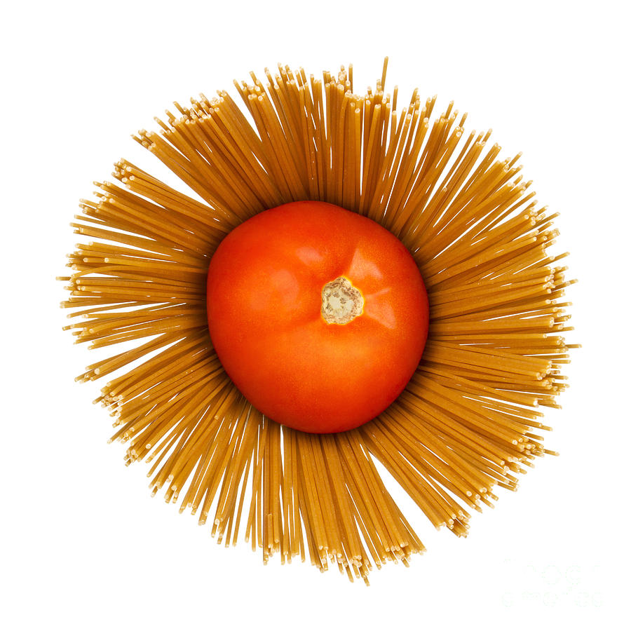 Pasta Photograph - Tomato And Pasta by Blink Images