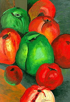 Oil Paint Painting - Tomato Peppers by Art By Naturallic