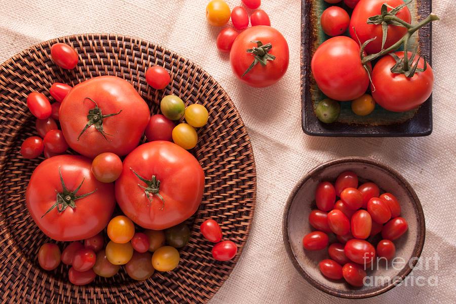 Tomato Photograph - Tomatoes by Ana V Ramirez