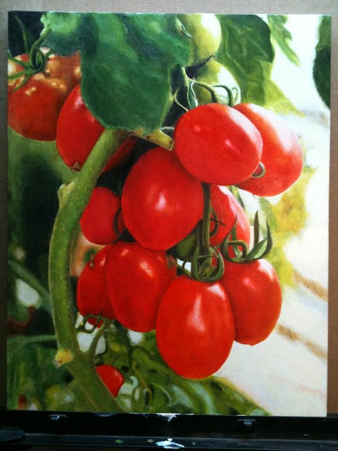 Tomatoes Painting by Brian Marsden