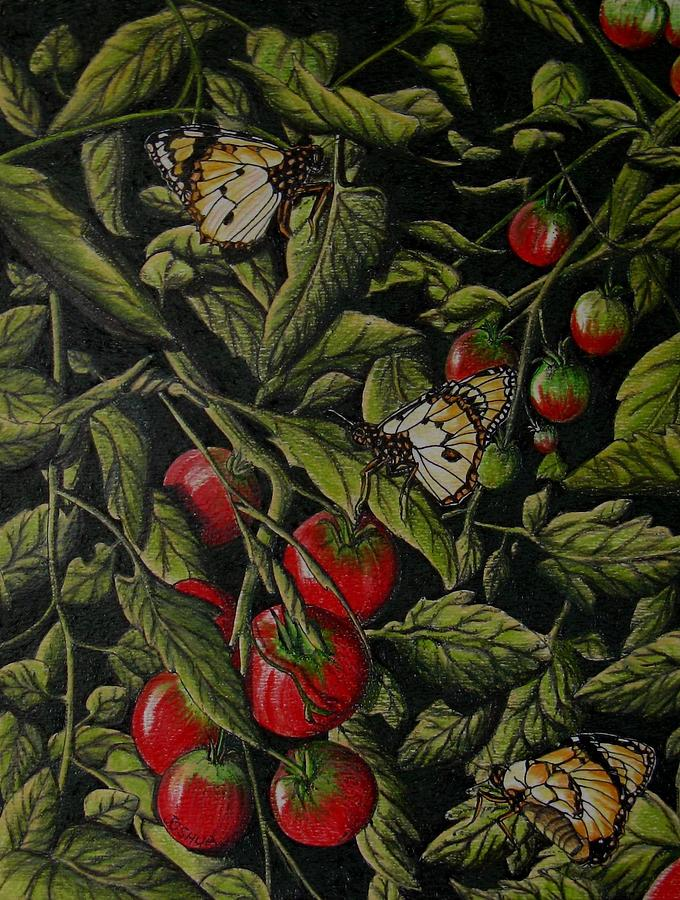 Butterfly Painting - Tomatoes by Joshua Armstrong