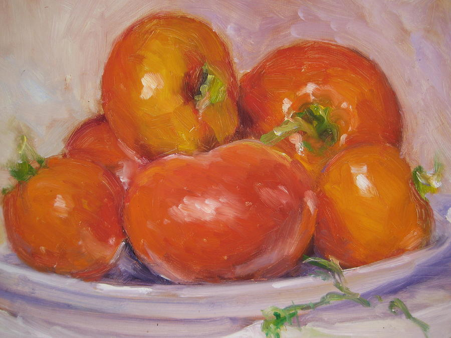 Tomatoes Painting - Tomatoes by Susan Jenkins