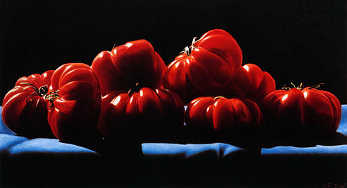 Still Life Painting - Tomatoes by Toby Boothman