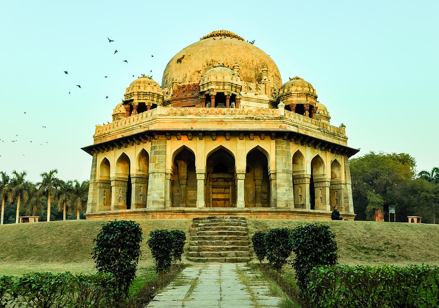 Ancient Photograph - Tomb Of Mohammed Shah, Lodhi Gardens, New-delhi by Freepassenger By Ozzy CG