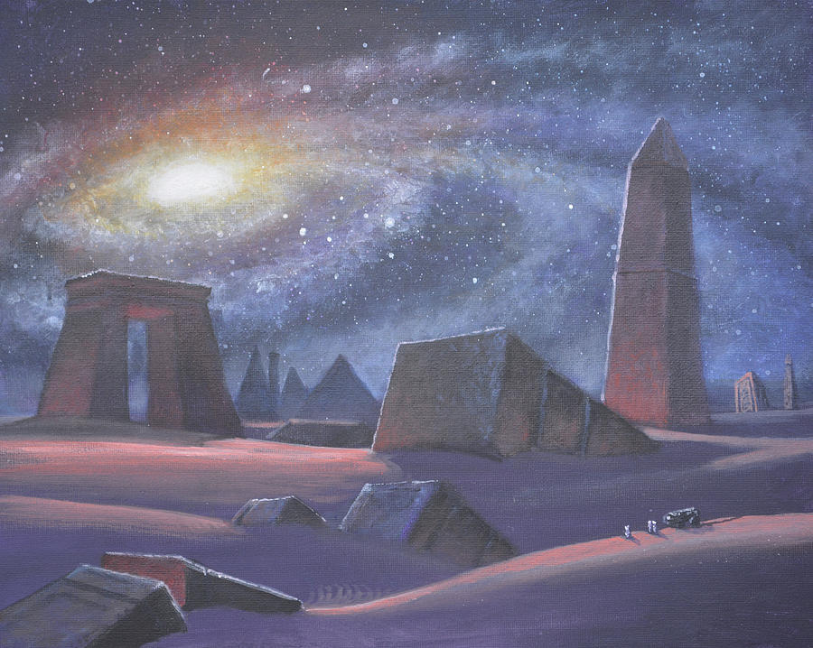 Science Fiction Painting - Tombs Of The Ancients by Armand Cabrera