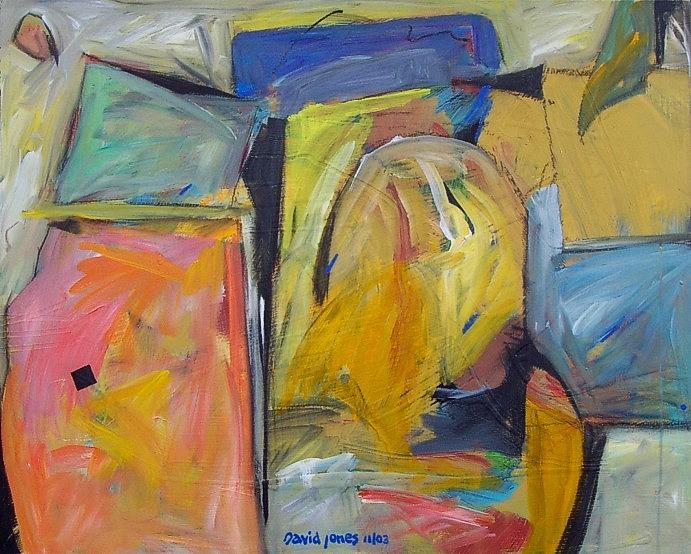 Abstract Painting - Tombstone Circus by Dave Jones