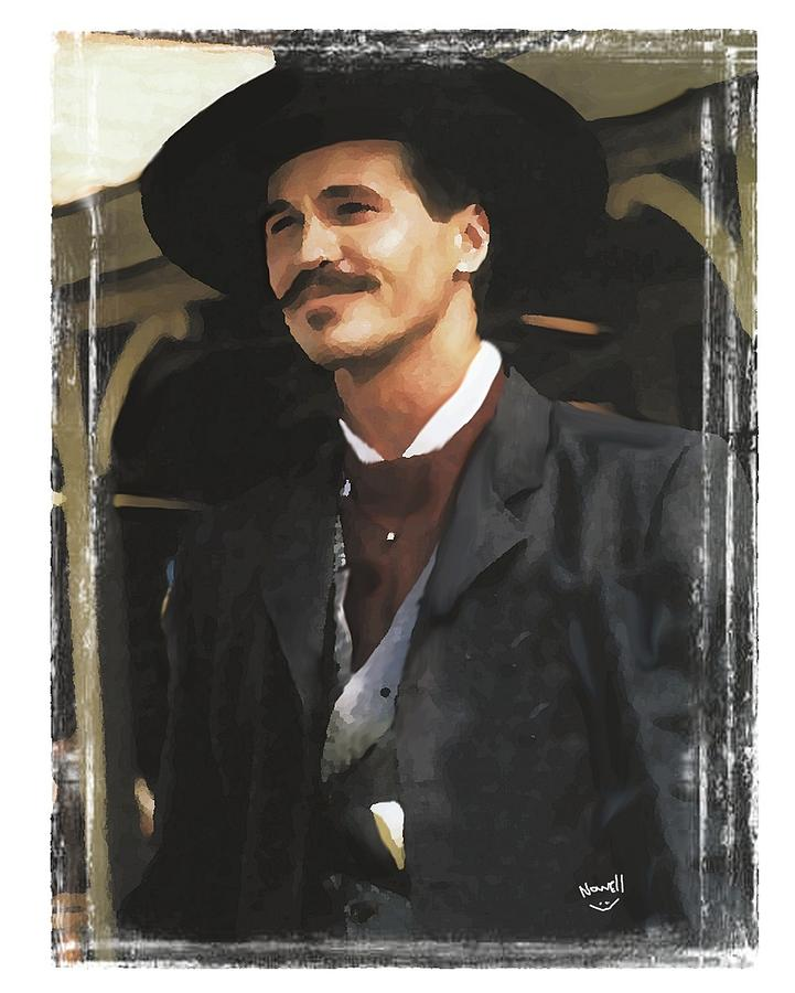 tombstone doc holliday painting by peter nowell