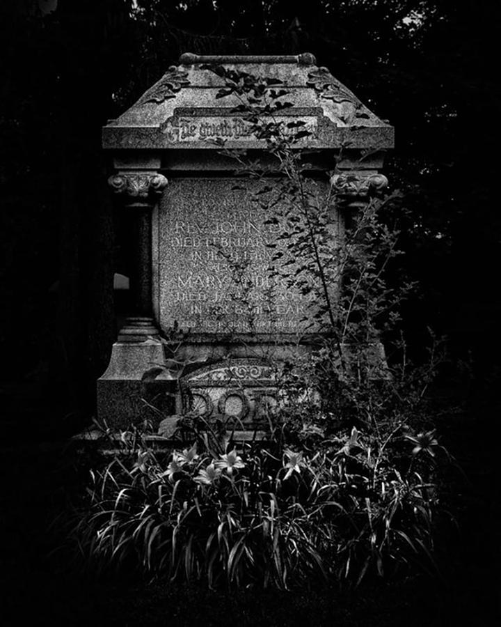 Graveyard Photograph - Tombstone Shadow.  An Ongoing by Brian Carson