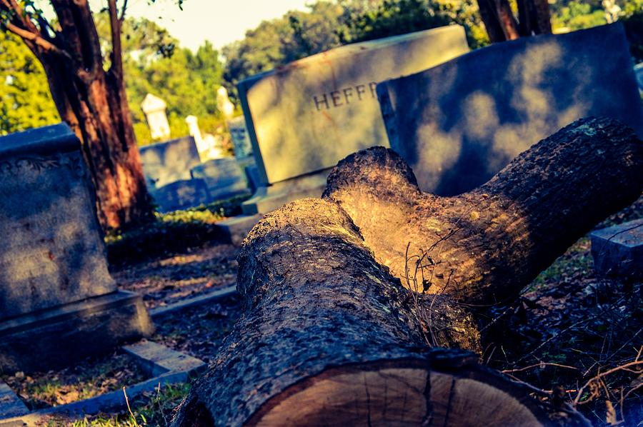 Tombstone Photograph - Tombstones by Angela Sherrer