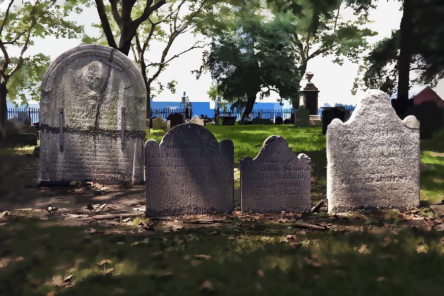 Cemetery Photograph - Tombstones by Kelley King