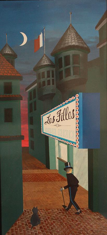 Paris Painting - Tomcat by Frank Parrish