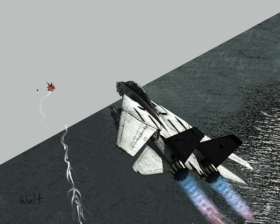 Military Digital Art - Tomcat Kill by Walter Chamberlain