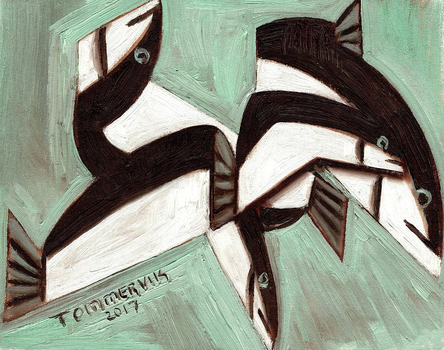 Fish Painting - Tommervik Abstract Fish by Tommervik