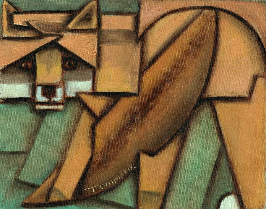 Fox Painting - Tommervik Abstract Fox Art Print by Tommervik