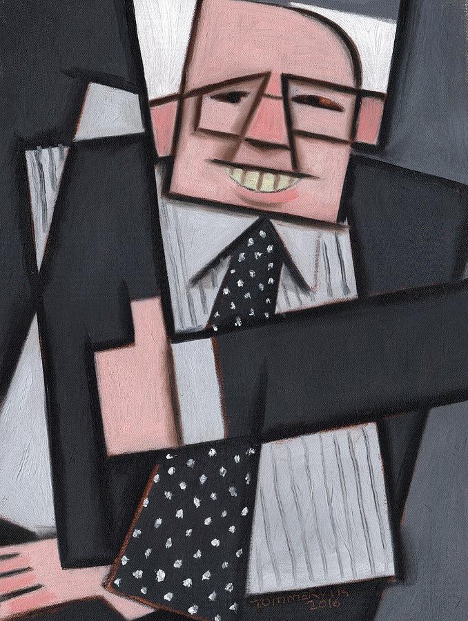 Sanders Painting - Tommervik Cool Abstract Bernie Sanders Art Print by Tommervik