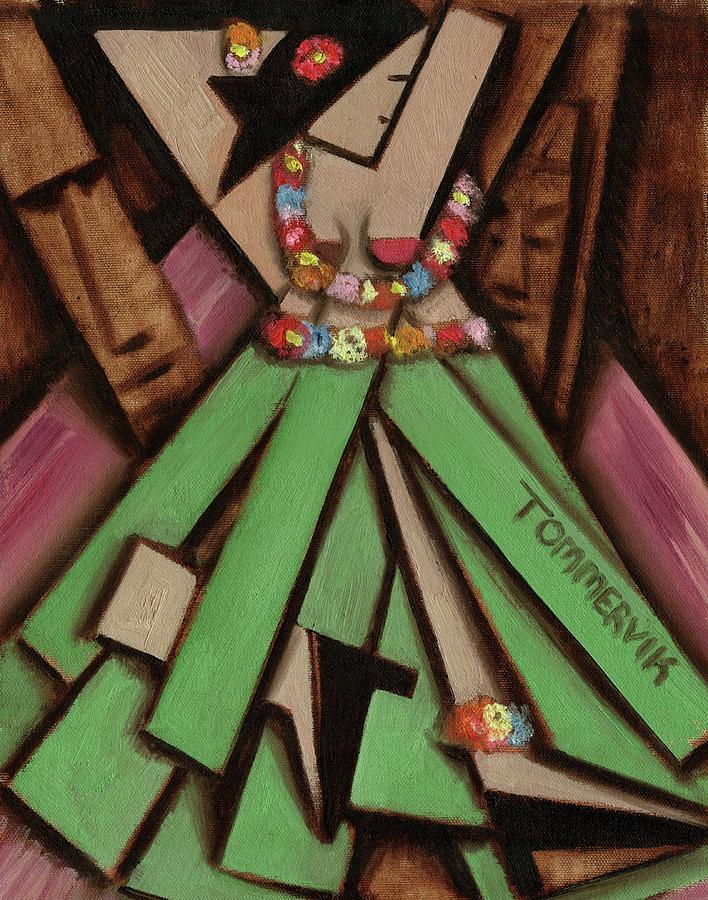 Hawaii Painting - Tiki Wall Art - Tommervik Dancing Tiki Hawaiian Hula Girl by Tommervik