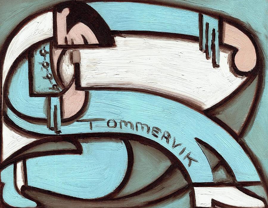 Elvis Painting - Tommervik Abstract Elvis Painting Blue Jump Suit Pop Wall Art Print by Tommervik