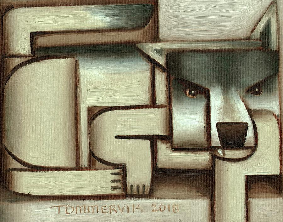 Wolf Painting - Tommervik Lone Wolf Art Print by Tommervik