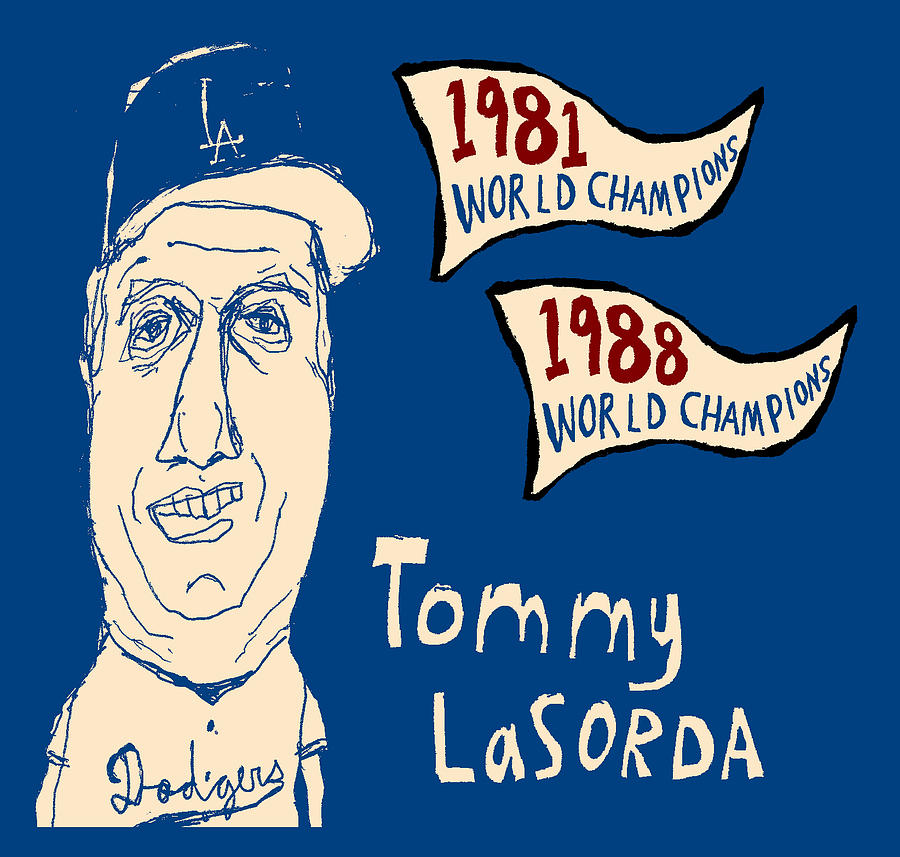 Tommy Lasorda Painting - Tommy Lasorda Los Angeles Dodgers by Jay Perkins