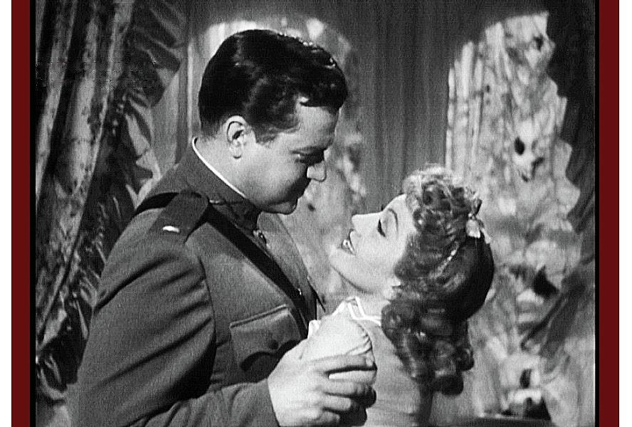 Tomorrow Is Forever Orson Welles in WW1 uniform and Claudette Colbert 1946  by David Lee Guss