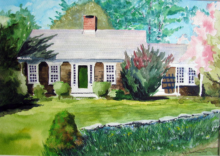 Landscape Painting - Toms House by Ron Imbriglio