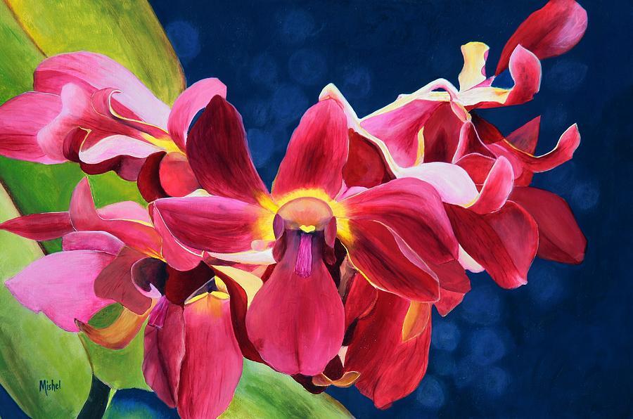 Nature Painting - Toms Orchid by Mishel Vanderten