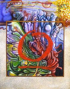 Circle Painting - Tondo 4 by Richard Montoya