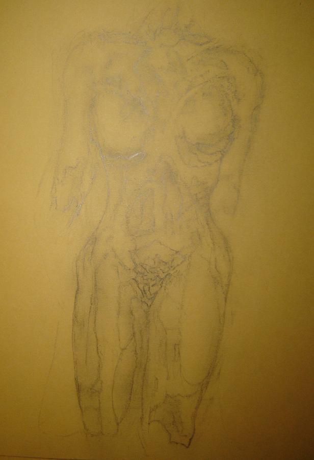 Female Nude Drawing - Tone by Dean Corbin