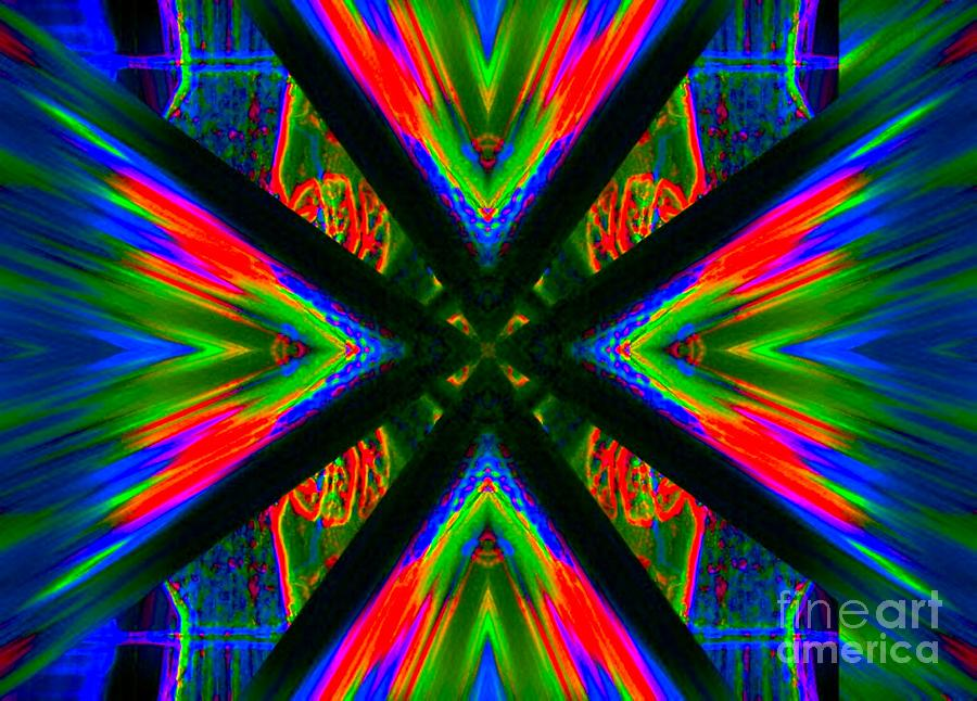 Abstract Digital Art - Tongue of Fire by Lorles Lifestyles