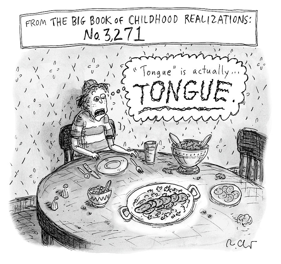 Tongue Drawing by Roz Chast