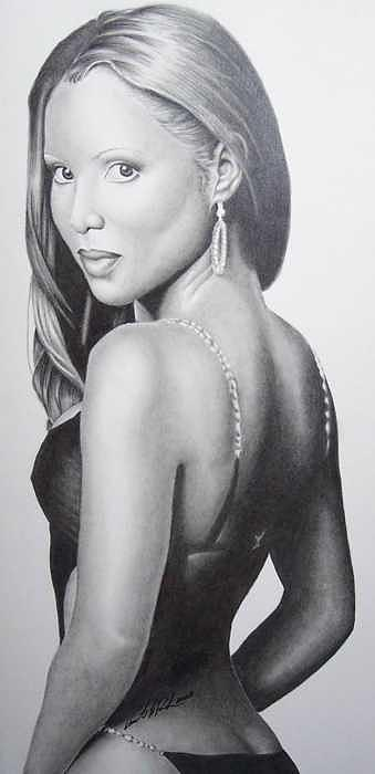 Music Drawing - Toni Braxton by Vincent Parker