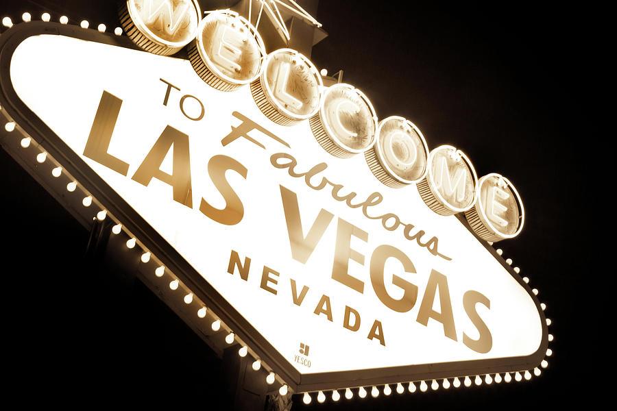 Nostalgic Photograph - Tonight In Vegas by Az Jackson
