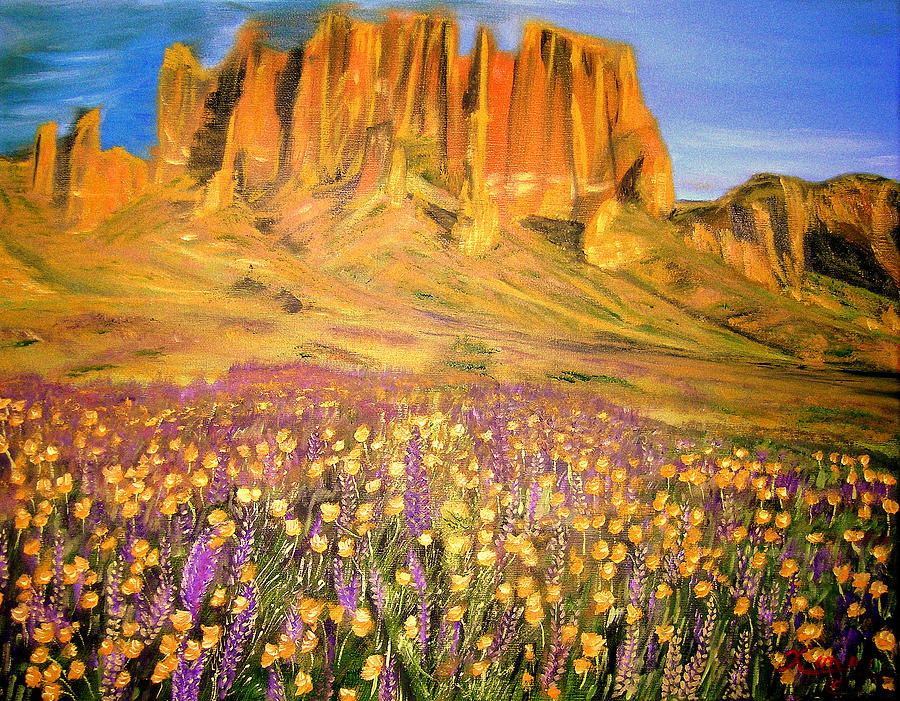 Tonto National Forest Painting by Kenneth LePoidevin